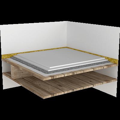 Suchá podlaha - silnovrstvý nášlap