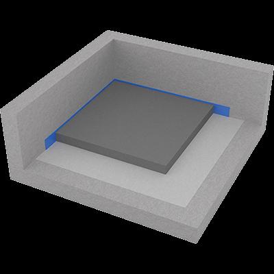 Litá podlaha - připojený potěr